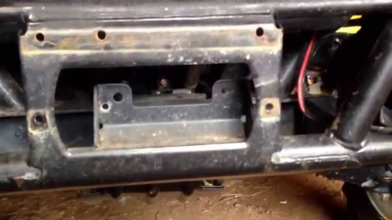 Bandland 3500 Winch Install On A Kawasaki 3010 Mule Part 1 Youtube 550 Ignition Wiring Diagram