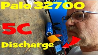 Palo 32700 5C 35Amps Discharge Test with a smelly result!