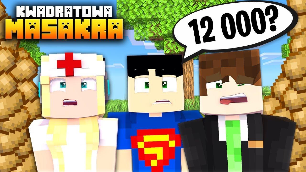 KAZALI NAM ZEBRAĆ 12 000 ZIEMNIAKÓW 🤯 KWADRATOWA MASAKRA | Cedi Minecraft