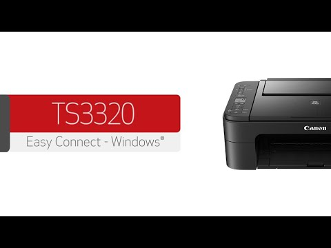 Canon PIXMA TS3320 - Connecting Your Windows® PC