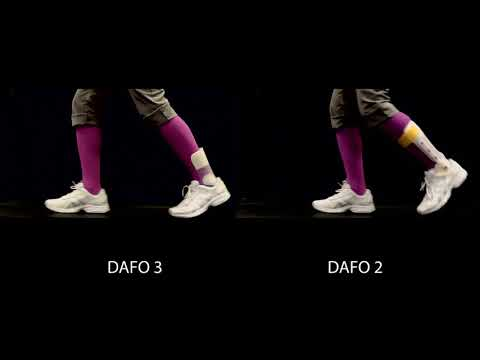 Brace movement | DAFO 3 and  DAFO 2 side-by-side comparison