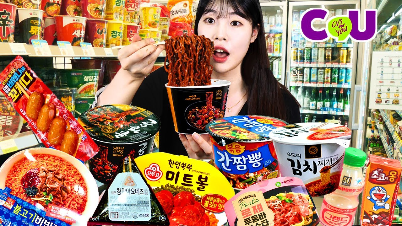 ASMR MUKBANG| 편의점 직접 만든 핵불닭 떡볶이 치킨 김밥 디저트 먹방 & 레시피 FRIED CHICKEN AND Tteokbokki EATING