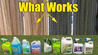 Deck and Fence Cleaners Review - Mold Mildew Algae - Pressure Washing Pre-Wash