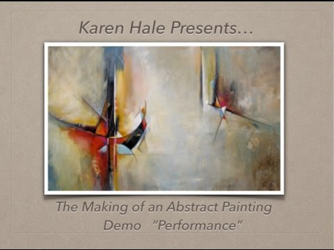 The Making of an Abstract Painting - A Bold Contemporary Painting Demo