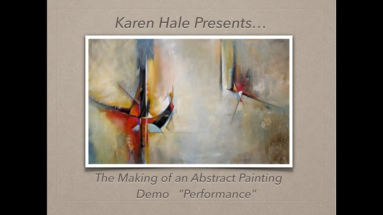 The Making Of An Abstract Painting A Bold Contemporary Painting Demo