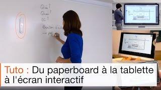 Comment faire collaborer un écran interactif, un SmartMarker et un tableau interactif