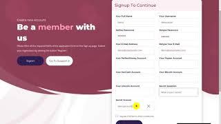 Assetrexint Trading Limited User Registration
