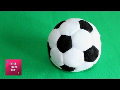Felt Soccer Ball - DIY : How to make felt soccer ball / Felt Crafts - Kids Crafts