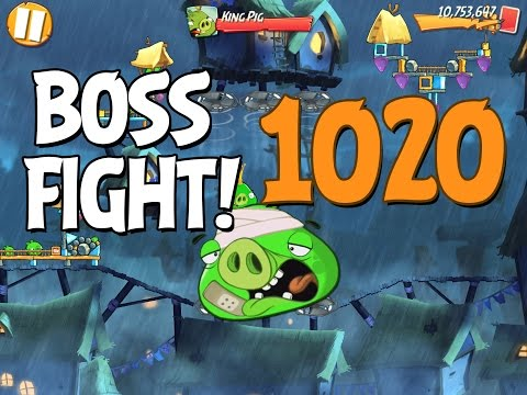 Angry Birds 2 Boss Fight 144! King Pig Level 1020 Walkthrough - iOS, Android