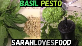 How To Make Pesto Sauce (and use it on a Greek Pizza!)
