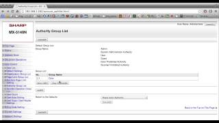 How To Setup User or Account Control on a Sharp Copier / Printer / Scanner