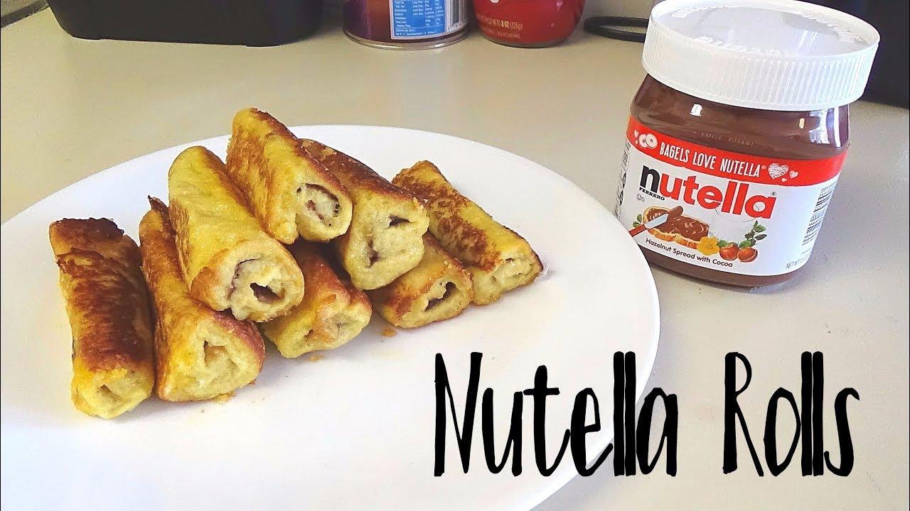 Nutella French Toast Rolls - YouTube