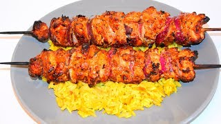 Middle Eastern Chicken Kebabs - Grilled Chicken Skewers Recipe - كباب الدجاج