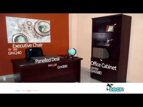 Office Cabinet, Executive Chair & Panelled desk - Orca Deco Ghana