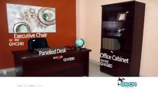 Office Cabinet, Executive Chair & Panelled Desk - Orca Deco Ghana