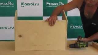 Makrol: видео-урок по сборке сенника клетки для кроликов
