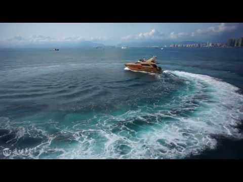 Yacht aerial video China, yacht video, luxury yacht china, ship aerial video china