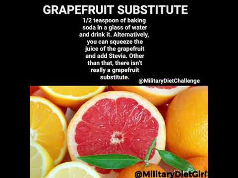 military-diet-substitutions