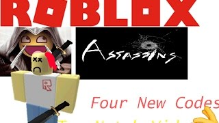 Roblox Assassin | Four New Codes 2017