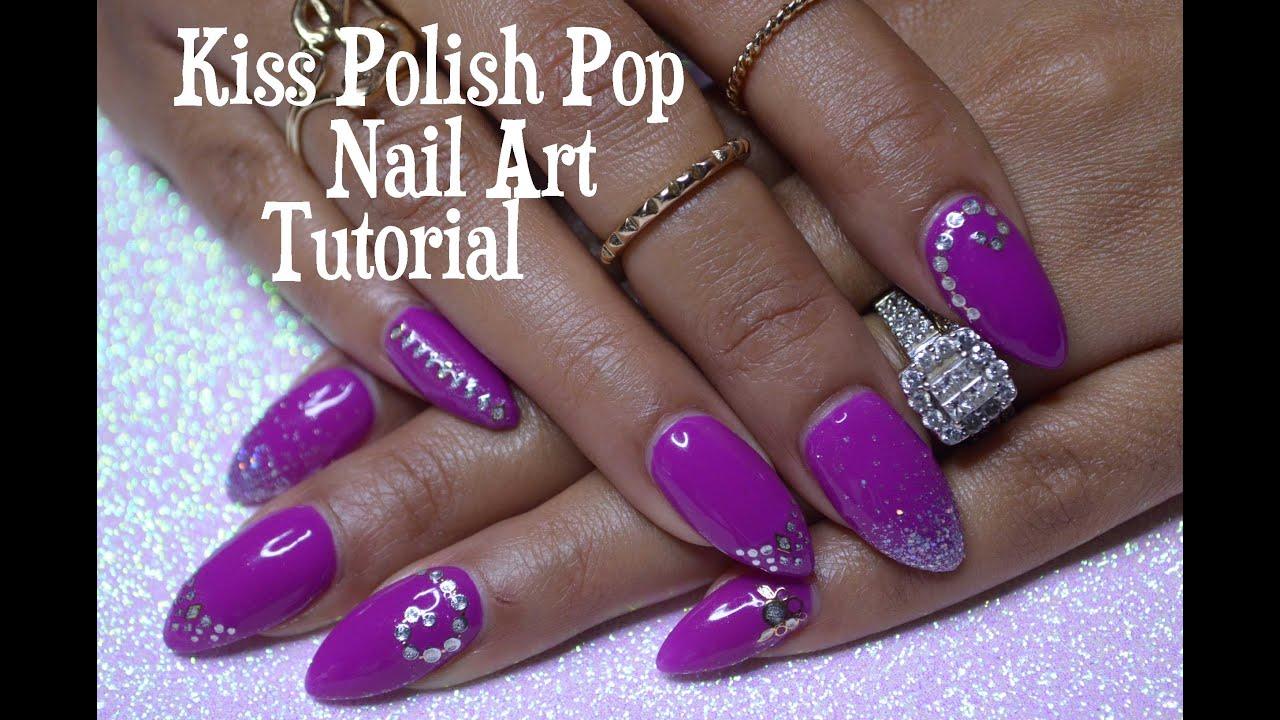 Kiss Polish Pop Nail Art Tutorial (NPOP03) |DivaDollFlawless - YouTube