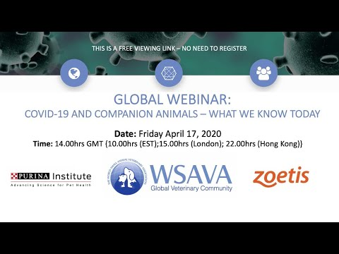 WSAVA Webinar: COVID-19 And Companion Animals – What We Know Today