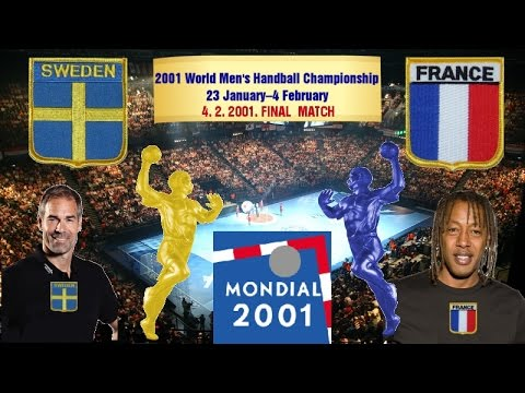 2001 World Men's Handball Championship Sweden France гандбол