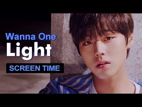 """Wanna One """" Light """" Screen Time Distribution 各成員MV畫面時間統計 워너원"""