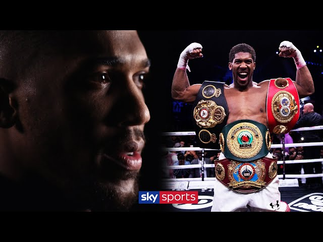 Anthony Joshua speaks openly about anxiety and the pressures of professional boxing