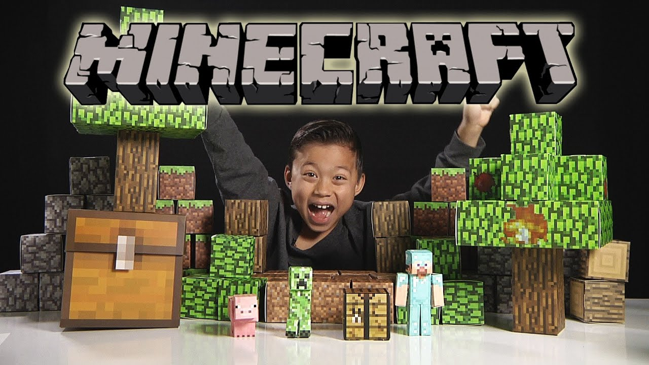 Papercraft MINECRAFT Papercraft Overworld Deluxe Set - Unboxing & Review