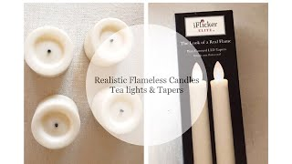 Flameless Tea Lights & Taper Candles    Affordable, realistic and Beautiful!!