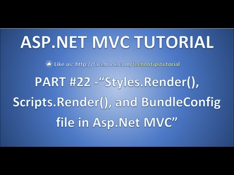 Part 22 - Style.Render, Script.Render, and BundleConfig file in Asp.net MVC