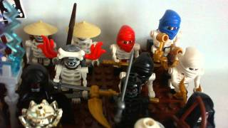 My Lego NinjaGo Castle Skeleton Army as of June 19 2011