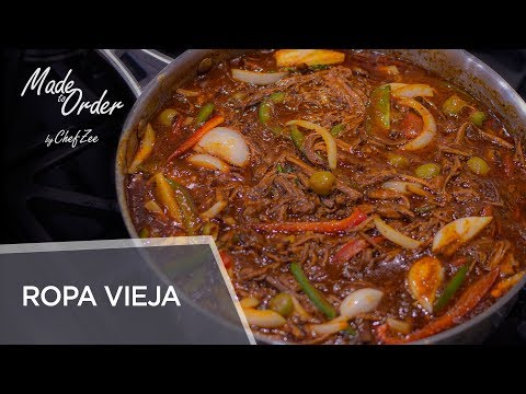 Ropa Vieja | Braised Shredded Beef Brisket | Cuban Recipes | Made To Order | Chef Zee Cooks