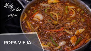 Ropa Vieja  Braised Shredded Beef Brisket  Cuban Recipes  Made To Order  Chef Zee Cooks