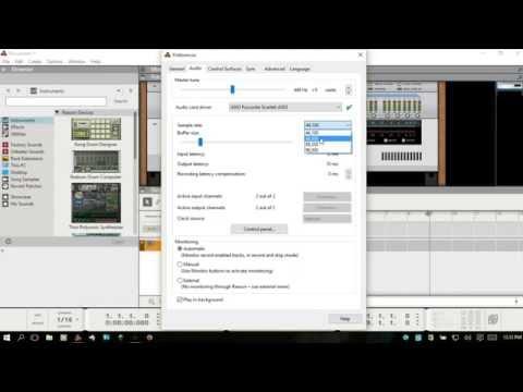 Audio Device Setup & Recording Audio in Reason 8