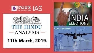 'The Hindu' Analysis for 11th March, 2019. (Current Affairs for UPSC/IAS )