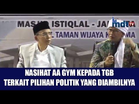 Nasihat AA Gym Kepada TGB Terkait Pilihan Politik Beliau