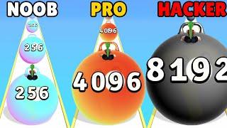 NOOB vs PRO vs HACKER in Yoga Ball Run