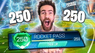 UNLOCKING MY ROCKET PASS TO LEVEL 250! ROCKET PASS  TIER OPENING!