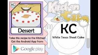 White Texas Sheet Cake - Kitchen Cat