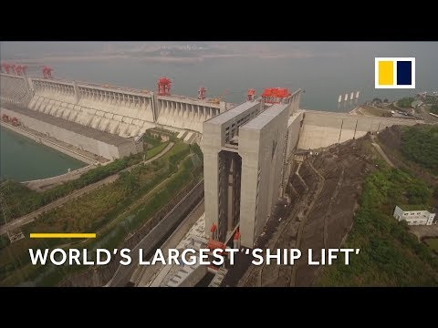 World's largest 'ship lift' in the Three Gorges Dam