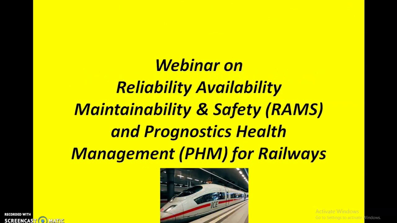 Reliability Availability Maintainability Safety Rams And Prognostics Health Management Phm Youtube
