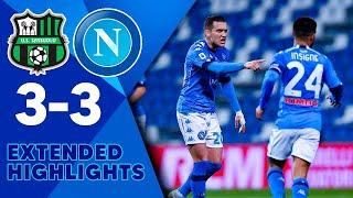 Наполи Сассуоло 3 3 Обзор Матча Чемпионата Италии 03 03 2021 HD