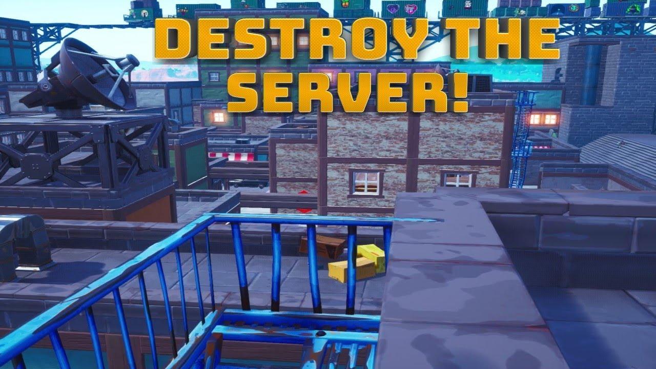 destroy the servers minigame demolition style map fortnite battle royale - fortnite servers map