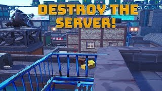 Destroy The Servers Minigame! (Demolition Style Map)- (Fortnite Battle Royale)