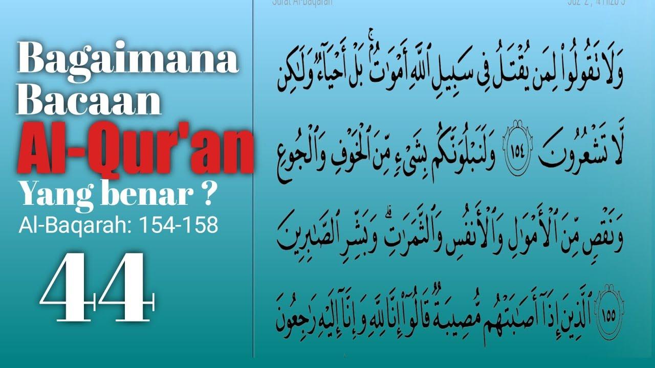 BAGIAN: 44/ Memperbaiki bacaan Al-Qur'an yang salah