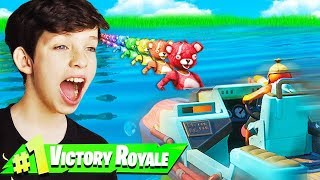 LITTLE BROTHER CARRIES ME TO FIRST FORTNITE CHAPTER 2 WIN!