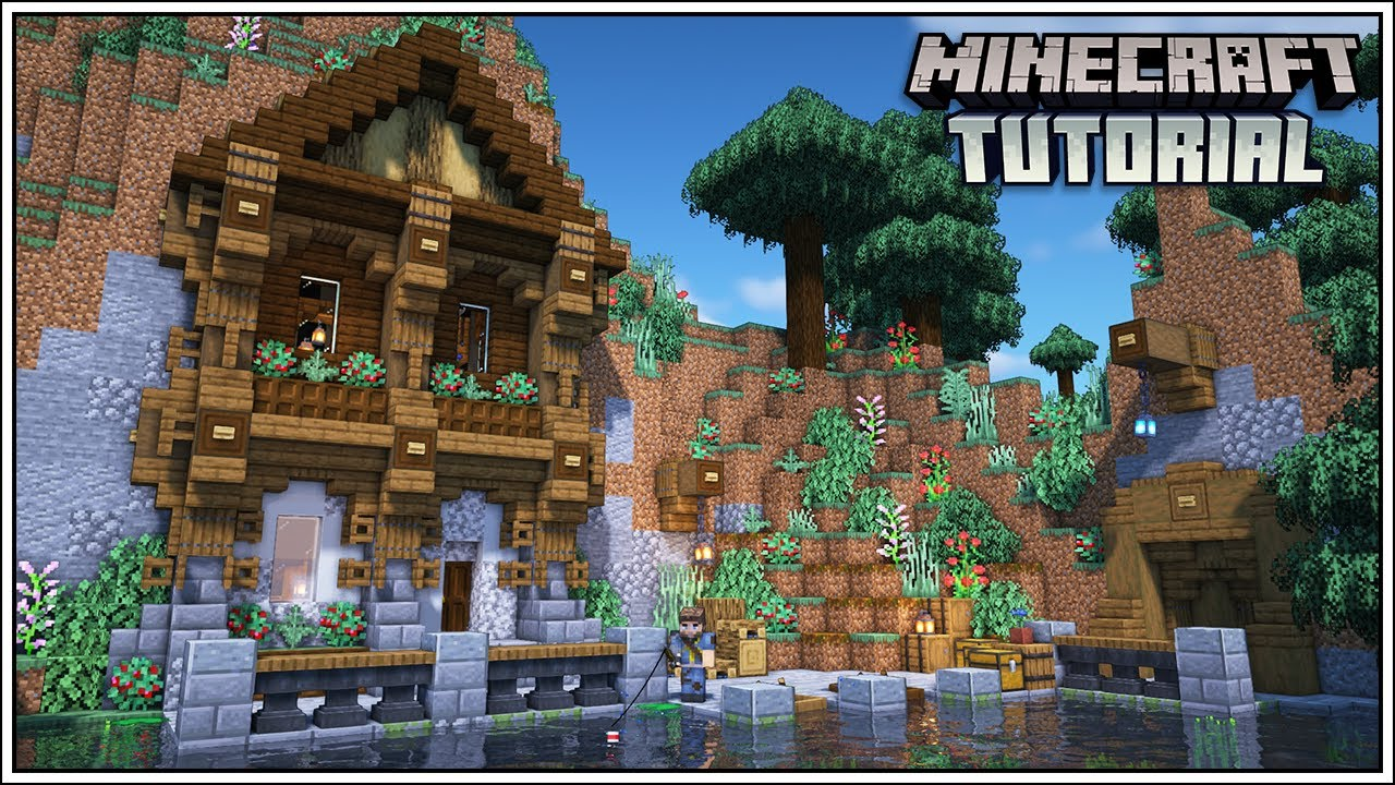 Minecraft Medieval Mountain House Tutorial [How To Build]