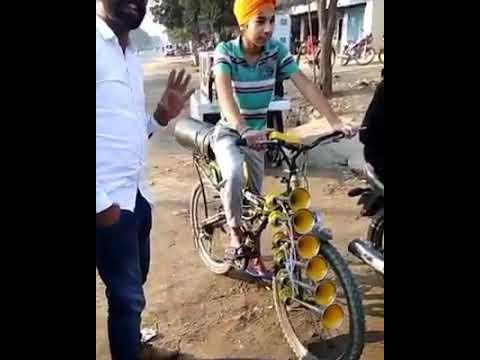 bus horns on bicycle ¦ Pressure horn ਪੰਜਾਬੀ