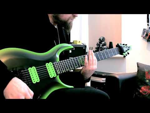 """""""Hardrive"""" AJ Demoing His New Kiesel Signature Guitar"""